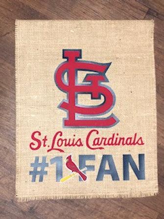 St. Louis Cardinals #1 Fan - Garden Flag