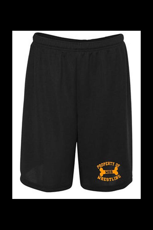 "Property of WHS Wrestling 9"" Mesh Shorts"