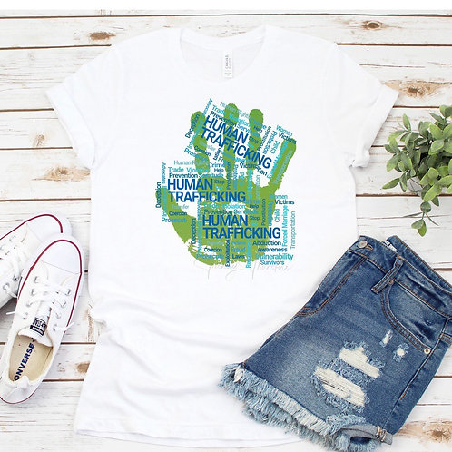 Human Trafficking Hand - sublimation only