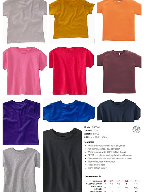 2T - 7  Rabbit Skins T-shirt