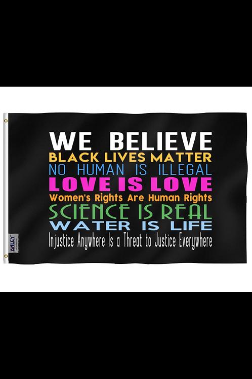 We Believe - 2'x3' Banner Flag