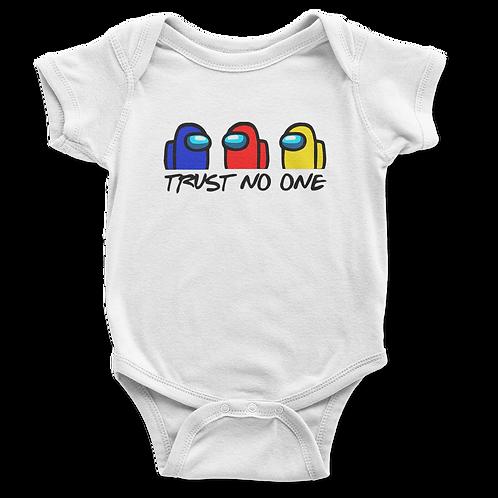 """Infant """"Trust No One"""" Bodysuit - several colors"""