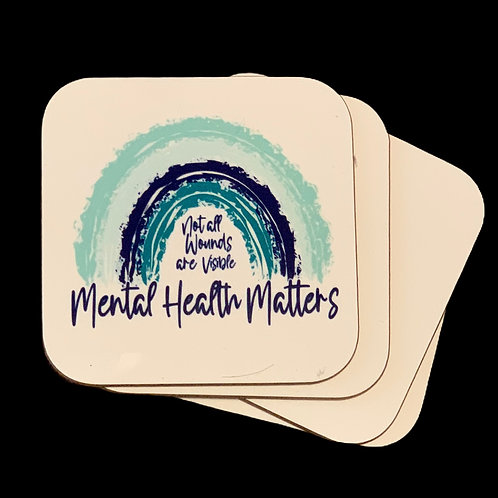 Mental Health Matters Coasters - 2 pack
