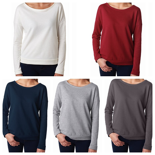 Ladies' Next Level French Terry Long Sleeve Scoop