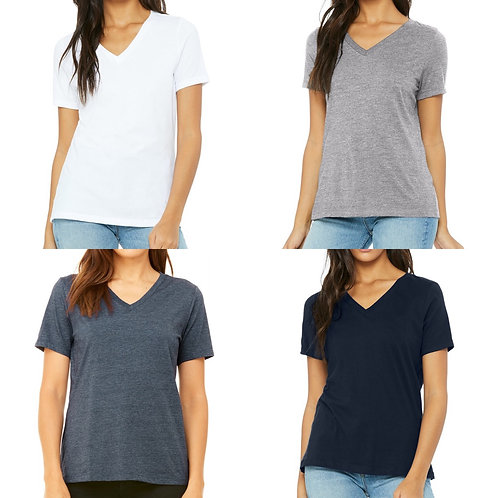 2x Ladies' Relaxed FIt Bella+Canvas T-shirt