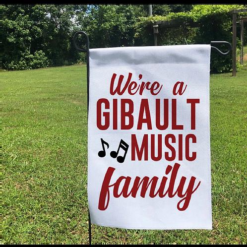 Gibault Music Family Garden Flag