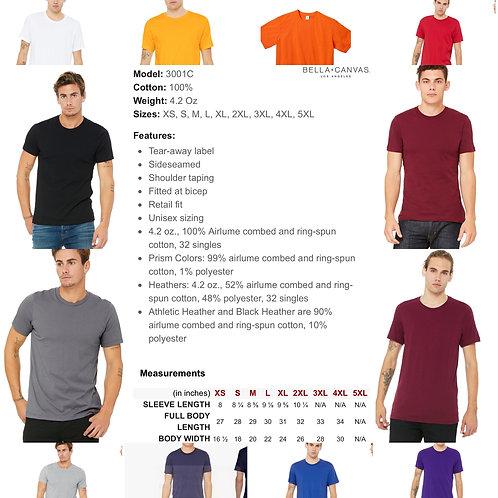 2x-4x Unisex Bella+Canvas Soft T-shirt