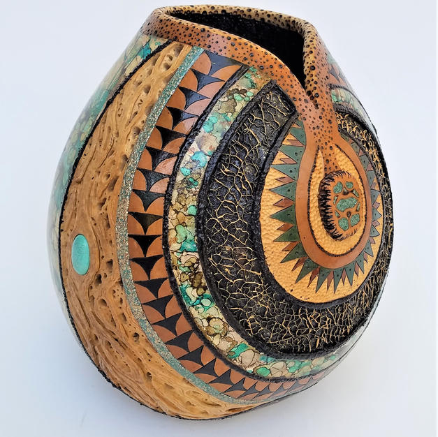 135.a Chasing Dreams, Turquoise Walnut  $785