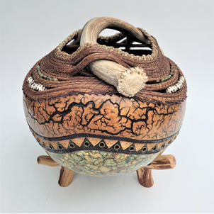 Chisos Canyon Antler Gourd (view 2)   $1,150