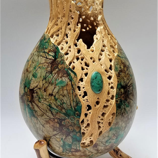 Cholla Treasure Gourd   $1295 (includes stand)