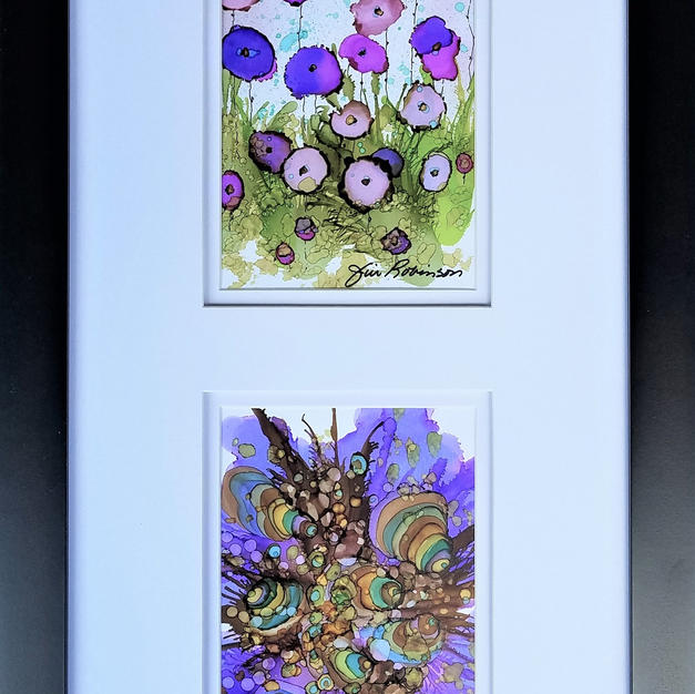 Carefree collage, purples   $195