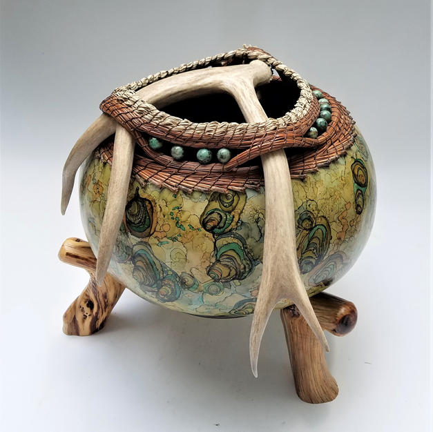 Creek's Edge Antler Gourd   $675 (includes stand)