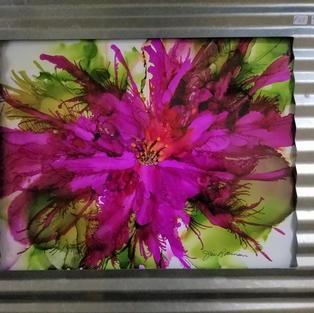 Bright Pink Splash Flower