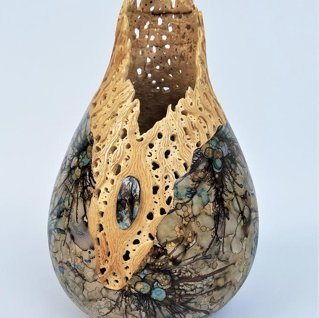 Cholla Treasure Gourd (Boulder opal)   $650