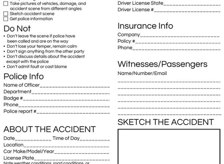 Post Accident Checklist