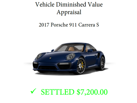 Recent Diminished Value Settlements Recovered