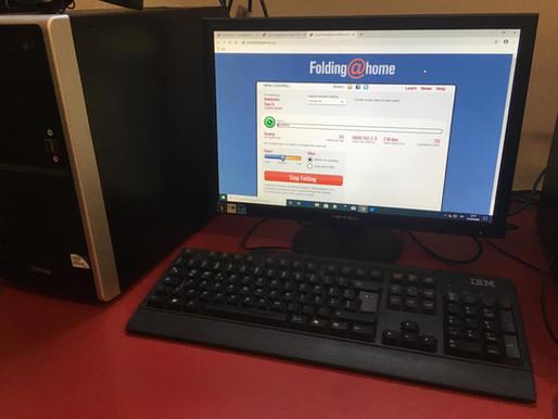 I computer dei Net Garage per la ricerca sul Coronavirus