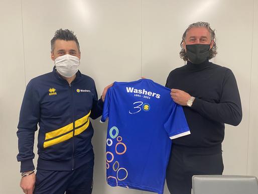 Washers Italia: la maglia del trentesimo anniversario è griffata Erreà Sport