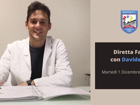 Sporting Chiozza: una diretta Facebook col nutrizionista Davide Tonelli