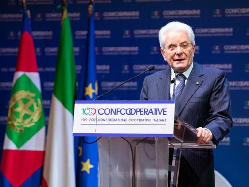 Sergio Mattarella ai cooperatori di Confcooperative: la Repubblica vi deve sostenere
