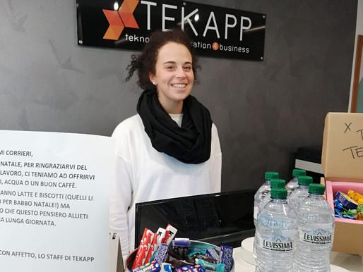 Tekapp: l'azienda che accoglie i corrieri di Amazon con biscotti e cioccolatini