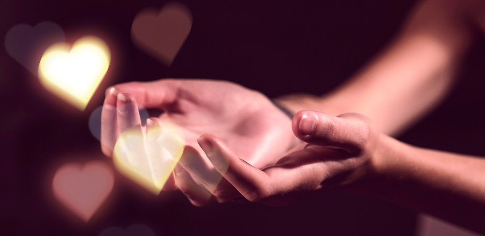 open hands - provide ourselves with an opportunity to heal