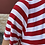 Thumbnail: Maxi abito righe bianche/rosse