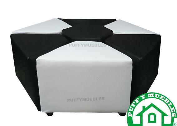 juego de puff + mesa hexa $ 400.000