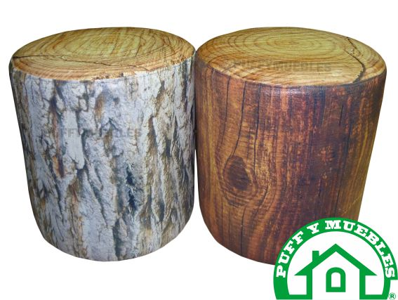 puff textura de madera