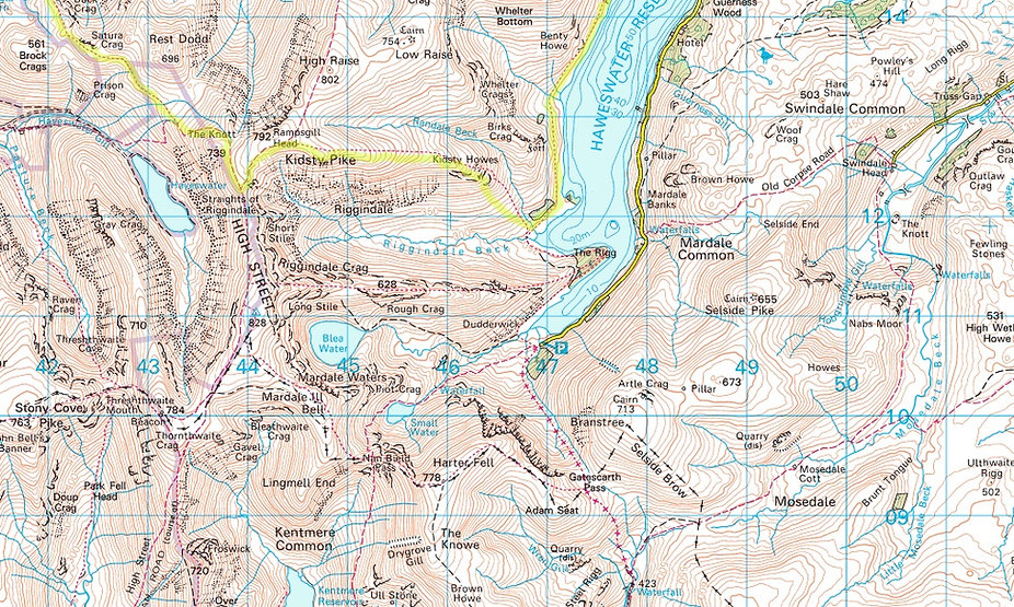 Map Haweswater Area