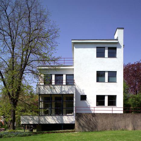 Egy valódi Bauhaus épület: az Auerbach-ház Jénában. Épült Walter Gropius tervei alapján, 1926-ban Fotó: Frank Müller / Jena Kultur