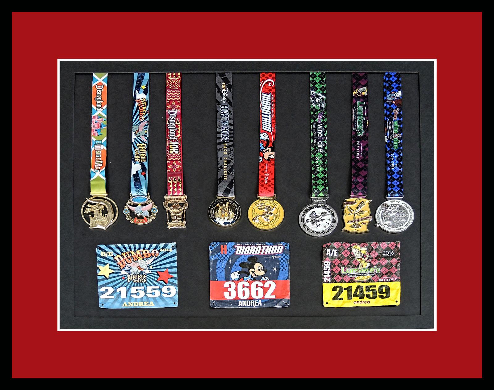 SM Marathon Medals Framed