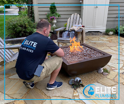 Gas Line Install for Natural Gas Fire Pit