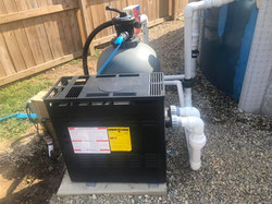 Pool Water Heater Install