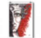 Poster Sanguine - Visage Femme Encre et fusain
