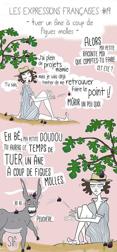 Tuer un âne à coup de figues molles, Les Expressions Françaises 19, Sara L. Fernandez