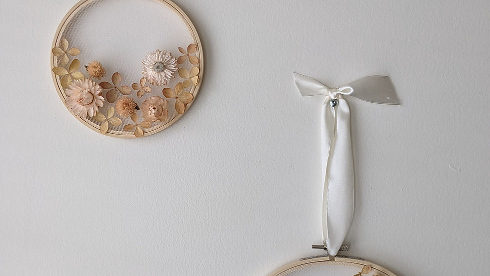 Matching Flower Embroidery Hoops