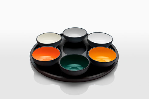 Cool Colors Passover Plates