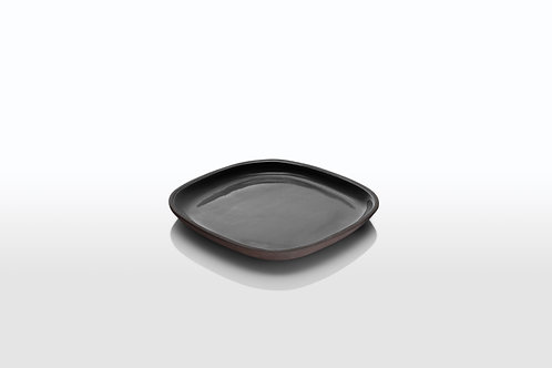 Monochrome Square Appetizer Plate