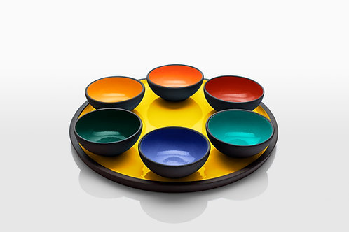 Warm Colors Passover Plates