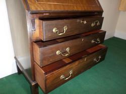 Bureau drawers open