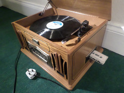 Record and tape player