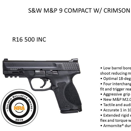 SMITH & WESSON COMPACT W/ CRIMSON TRACE LASER
