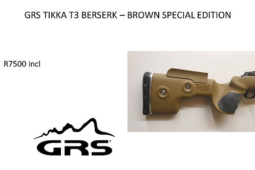 GRS BERSERK - BROWN SPECIAL EDITION TIKKA T3