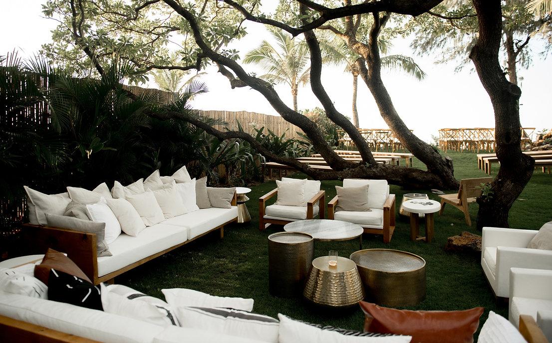 Artisan-Events-Maui-Wedding-Event-Outdoor-Custom-Handcrafted-Rentals-ISLES-Riviera-Sofa-Lounge-Vignette-Seating-Melissa-Padilla-Creative-Surfclub-Rebecca-Amber-Photography