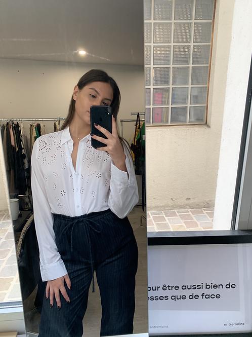 chemise blanche à détails T.S/M