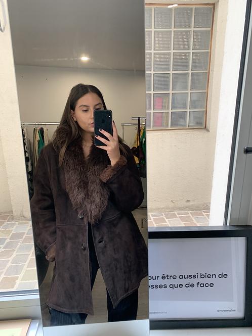 manteau col fourrure T.M