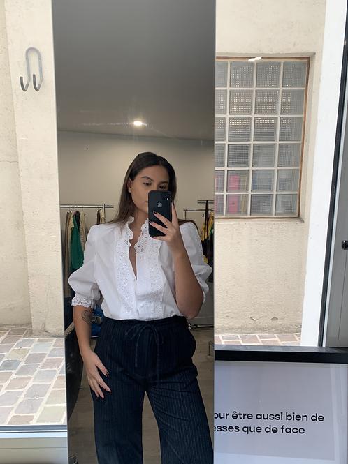 chemise manche 3/4 brodée T.M