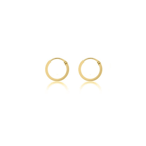 Yellow Gold Vermeil 13mm Classic Hoop Earrings