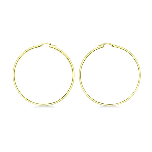 Yellow Gold Vermeil 60mm Creole Hoop Earrings